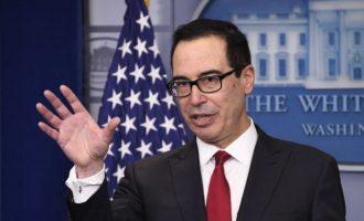 Με επιπλέον οικονομικές κυρώσεις προειδοποίησε την Τουρκία ο υπ. Οικονομικών των ΗΠΑ