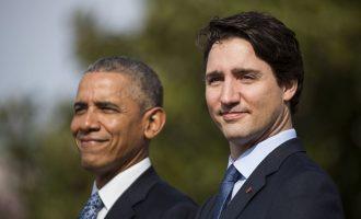«Γραμμή» Ομπάμα υπέρ Τριντό στις καναδικές εκλογές της 21ης Οκτωβρίου