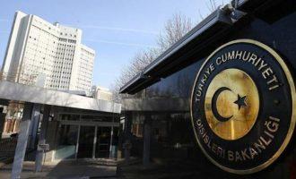 Τουρκικό ΥΠΕΞ: Θα ανταποδώσουμε οποιοδήποτε μέτρο ληφθεί σε βάρος μας