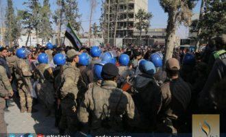 Οι δυνάμεις της τουρκικής κατοχής άνοιξαν πυρ σε διαδηλωτές στην Αλ Μπαμπ