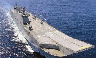 Οι Τούρκοι καθέλκυσαν το ελικοπτεροφόρο τους – «Στόχος σκοποβολής» για το ελληνικό ΠΝ