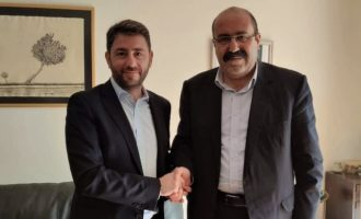 Ο Νίκος Ανδρουλάκης συναντήθηκε με τον συμπρόεδρο των Κούρδων της Συρίας