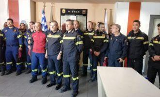 Τιμητική υποδοχή στους άνδρες της ΕΜΑΚ που επέστρεψαν από την Αλβανία