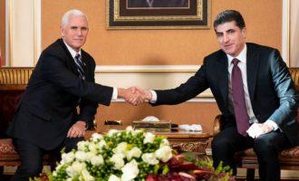 Ο Πενς πήγε στο Ιράκ για να καθησυχάσει τους Κούρδους και να πει στους Ιρακινούς να ξεκόψουν από το Ιράν