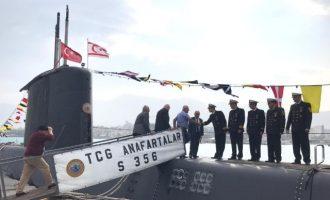 Οι Τούρκοι έστειλαν ένα υποβρύχιο και μια πυραυλάκατο στην κατεχόμενη Κερύνεια