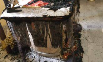 Χίος: Έκαψαν την Αγία Τράπεζα σε εκκλησία στο Χαλκειός