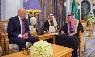 Ο Δένδιας έφερε τη Σαουδική Αραβία στο πλευρό μας – Συμφώνησε ο βασιλιάς