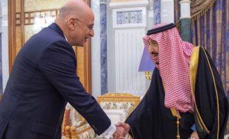 Με τον βασιλιά Σαλμάν ο Νίκος Δένδιας – Η Ελλάδα συνεννοείται με τους Άραβες συμμάχους