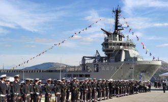 Ο εφοπλιστής Λασκαρίδης δώρισε στο Πολεμικό Ναυτικό ένα πλοίο Γενικής Υποστήριξης