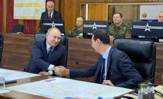 Αιφνιδιαστική επίσκεψη Πούτιν στη Συρία – Έκανε «βόλτα» στη Δαμασκό και συναντήθηκε με Άσαντ