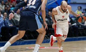 Euroleague: «Σβήνει» το όνειρο της 8άδας για τον Ολυμπιακό – Έχασε 91-87 από τη Ζενίτ