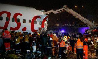 Ένας νεκρός και 157 τραυματίες στο αεροπορικό δυστύχημα στην Κωνσταντινούπολη (βίντεο)