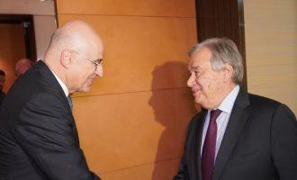 Δένδιας σε Γκουτέρες: «Η Ελλάδα έχει ρόλο και λόγο στην κατάσταση τη Λιβύη»
