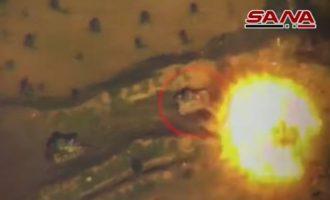 Φωτιά στην Ιντλίμπ – Τούρκοι στρατιώτες και τζιχαντιστές βομβαρδίζονται δίχως έλεος (βίντεο)