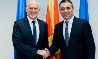 Ο Παπανδρέου πήγε Βόρεια Μακεδονία – Είδε Ντιμιτρόφ και Ζάεφ