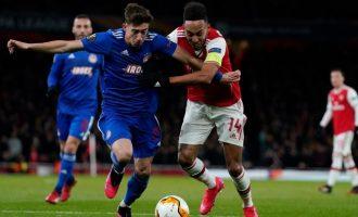 Θρίαμβος: Ο Ολυμπιακός υπέταξε 2-1 την Άρσεναλ και πέρασε στους «16» του Europa League