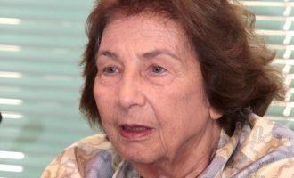 Πέθανε σε ηλικία 97 ετών η συγγραφέας Άλκη Ζέη