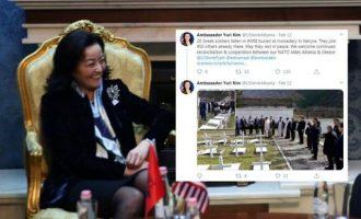 Ενθουσιασμένη η ελληνική μειονότητα στην Αλβανία με τη νέα Αμερικανίδα πρέσβυ Γιούρι Κιμ