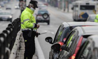 5.762 παραβάσεις της απαγόρευσης άσκοπης κυκλοφορίας σε μια εβδομάδα
