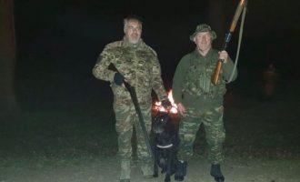 Εθνοφύλακες και ένοπλοι κυνηγοί μαζί με τον στρατό στο Δέλτα του Έβρου