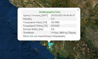 Σεισμός 4 Ρίχτερ ταρακούνησε την Πάργα