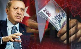 Βloomberg: Πολύ σύντομα βαρύτατες συνέπειες στους χειρισμούς Ερντογάν στις Αγορές