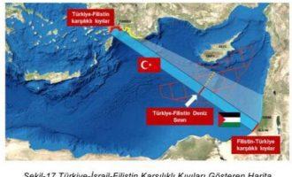 Αυτός είναι ο χάρτης «οριοθέτησης» ΑΟΖ Τουρκίας-Γάζας – Να τον διαψεύσει η Παλαιστινιακή Αρχή