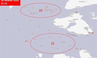 Συνολικά 50 τουρκικά αλιευτικά «μοιράζουν» το Αιγαίο – Δεν τρέχει τίποτα;