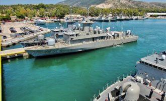 Στον Ναύσταθμο Σαλαμίνας η νέα πυραυλάκατος του Πολεμικού Ναυτικού (βίντεο)
