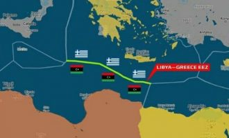 «Αυτή είναι η ΑΟΖ Ελλάδας-Λιβύης» λέει ο Λιβυκός Εθνικός Στρατός (LNA)