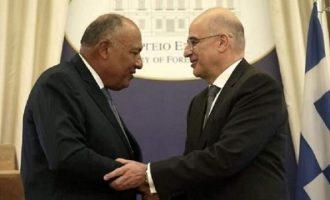 Ο Δένδιας μίλησε με Σούκρι για τις εξελίξεις στην Ανατολική Μεσόγειο