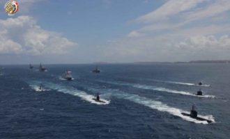Ο αιγυπτιακός στόλος προχωρά σε μεγάλη ναυτική άσκηση στα ανοιχτά της Λιβύης