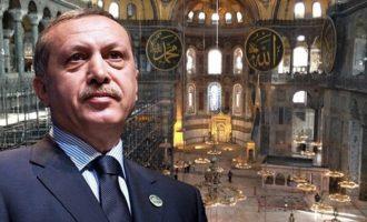 Ο Ερντογάν έκλεισε την Αγία Σοφία για τους επισκέπτες από το Σάββατο 11 Ιουλίου