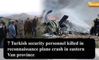 Συνετρίβη τουρκικό στρατιωτικό αεροσκάφος στην Αν. Τουρκία – Νεκροί επτά στρατιωτικοί