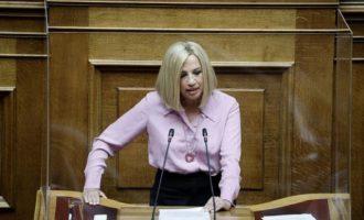 Γεννηματά: Δεν εμπιστευόμαστε τον κ. Μητσοτάκη και κανέναν υπουργό του