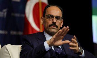 Ο Καλίν «καθορίζει» ευρεία ατζέντα στις διερευνητικές συνομιλίες Ελλάδας-Τουρκίας