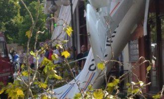 Μονοκινητήριο αεροσκάφος συνετρίβη μέσα στην Πρώτη Σερρών