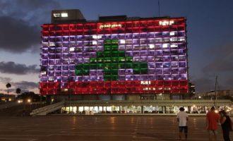 Ισραήλ: Το δημαρχείο του Τελ Αβίβ φωτίστηκε με τα χρώματα της σημαίας του Λιβάνου