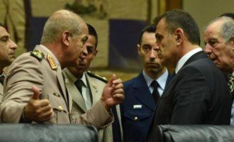 Τηλεφωνική Επικοινωνία Παναγιωτόπουλου με τον ΥΠΑΜ Αιγύπτου στρατηγό Μοχάμεντ Ζάκι
