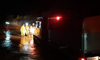 Κυκλώνας «Ιανός»: Θρίλερ στον Αλμυρό με τρεις εργαζόμενους να κρέμονται από τα κλαδιά ενός δένδρου