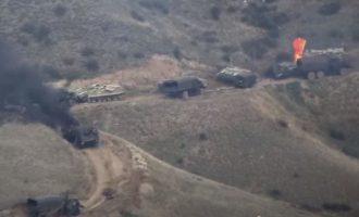 Οι Αρμένιοι κατέστρεψαν στρατιωτική φάλαγγα των Αζέρων Τούρκων (βίντεο)