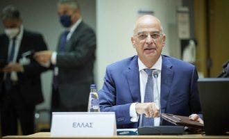Δένδιας: Η Τουρκία πρέπει να δώσει πολλά απτά δείγματα σεβασμού του διεθνούς δικαίου