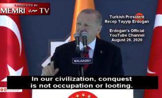 Ο Ερντογάν μίλησε για «τζιχάντ»: Κατάκτηση σημαίνει η εγκαθίδρυση της δικαιοσύνης του Αλλάχ (βίντεο)