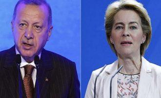 Ο Ερντογάν είπε στην Ούρσουλα ότι είναι έτοιμος για διάλογο με την Ελλάδα