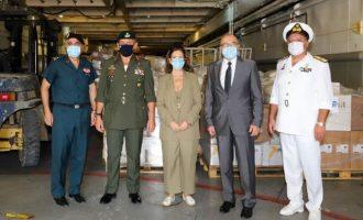 Απέπλευσε το «ΙΚΑΡΙΑ» για τον Λίβανο με 180 τόνους ανθρωπιστική βοήθεια