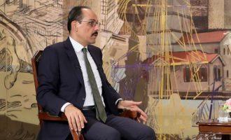 Ιμπραήμ Καλίν: Ο Ερντογάν θα θέσει σε Μέρκελ και Μισέλ το ζήτημα συνεκμετάλλευσης των κοιτασμάτων