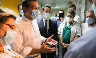 Τσίπρας: Η ευθύνη ανήκει στην κυβέρνηση – Άμεσα 15.000 προσλήψεις, επίταξη ιδιωτικών ΜΕΘ και δωρεάν τεστ