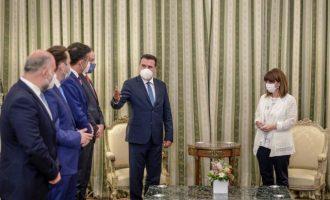 Ο Ζάεφ διαβεβαίωσε την Πρόεδρο ότι απέναντι στην Τουρκία η Ελλάδα μπορεί να βασίζεται στη Βόρεια Μακεδονία