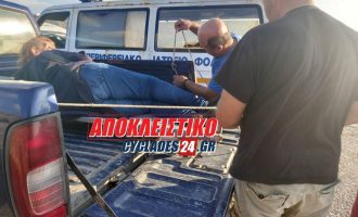 Ντροπή: «Έμεινε» το ασθενοφόρο στο δρόμο στη Φολέγανδρο – Στην καρότσα αγροτικού μετέφεραν την τραυματία