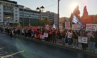 Αρμένιοι της Ελλάδας και Έλληνες διαδήλωσαν την αλληλεγγύη τους στον λαό του Αρτσάχ